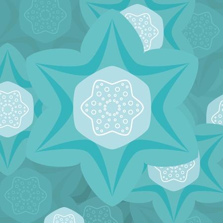 author: Turquoise flower illustration, stock vector, author - ihatethewinter