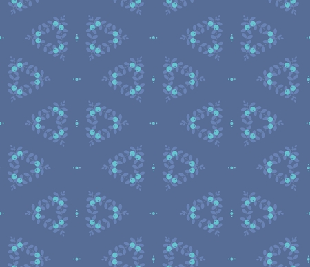 blue berry: Seamless abstract pattern, blue berry, stock vector illustration Illustration