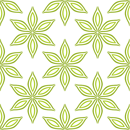 green flowers: Simple green flowers seamless pattern, stock vector
