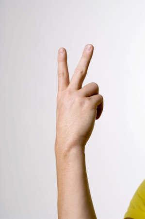 Hand showing sign language Stock Photo - 3192958