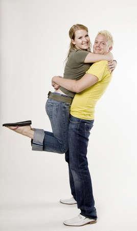 carrying girlfriend: Boyfriend carrying girlfriend