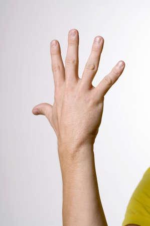 Hand showing sign language LANG_EVOIMAGES