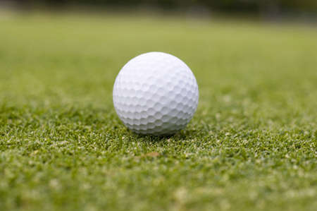 Golf ball on the field