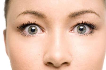 Close-up of teenage girls eyes
