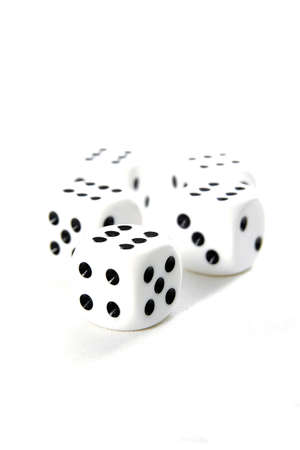 Close up on dices