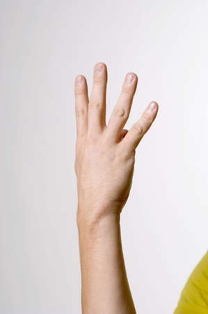 fingers: Hand showing sign language LANG_EVOIMAGES