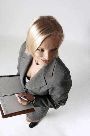 Businesswoman with her organizer Stock Photo - 3192986