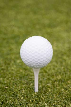 Golf ball on tee Stock Photo - 3192989
