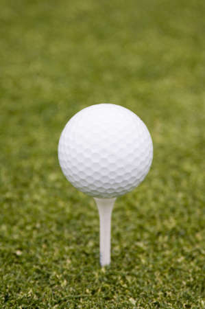 Golf ball on tee LANG_EVOIMAGES