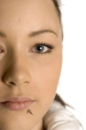 Close-up of teenage girls face