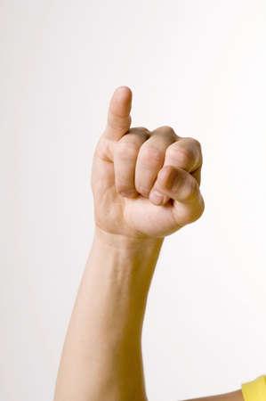 Hand showing sign language Stock Photo - 3193036