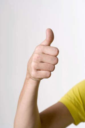 Hand showing sign language Stock Photo - 3193043
