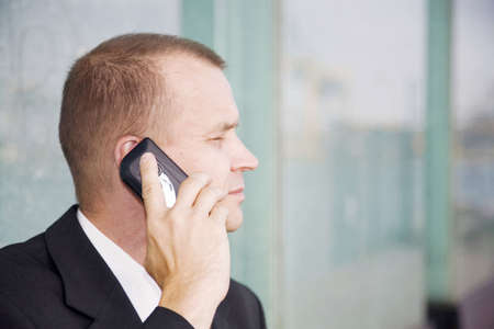 Businessman talking on the mobile phone Stock Photo - 3193050