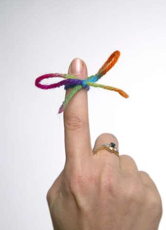 집게 손가락: Knot tied on forefinger LANG_EVOIMAGES