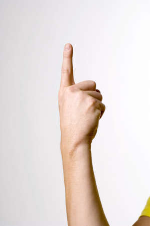 Hand showing sign language Stock Photo - 3193058