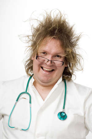 Doctor with messy hair Stock Photo - 3193112