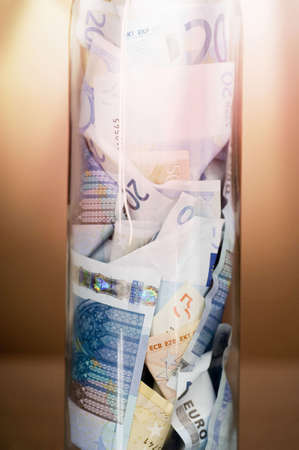 Banknotes in a jar, close up Stock Photo - 3193210