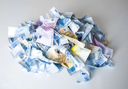 Crumpled banknotes in a pile Stock Photo - 3193250