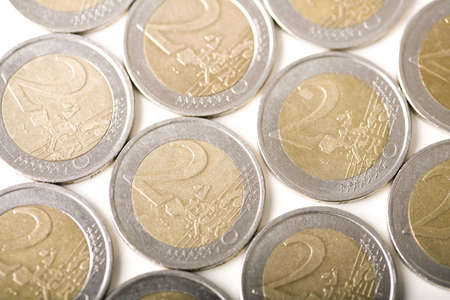Two Euro coins Stock Photo - 3193255