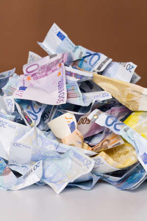 Crumpled banknotes in a pile Stock Photo - 3193270