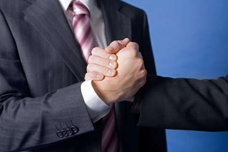 Close up of handshake by businessmen Stock Photo - 3193292