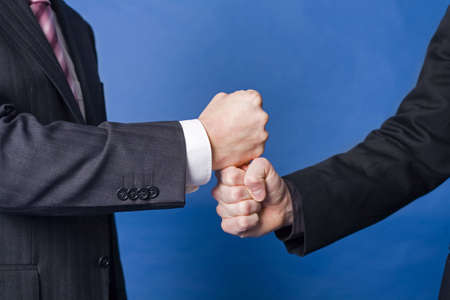 Close up of handshake by businessmen Stock Photo - 3193296