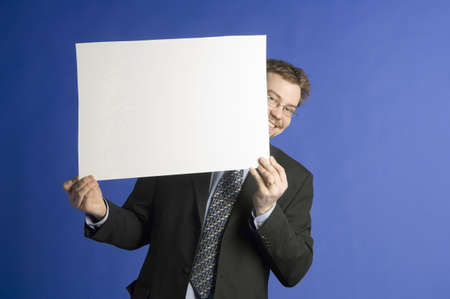 censor: Businessman posing with a censor sheet