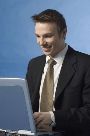 Businessman working on his laptop Stock Photo - 3193331