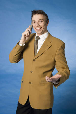 Businessman talking on the mobile Stock Photo - 3193337