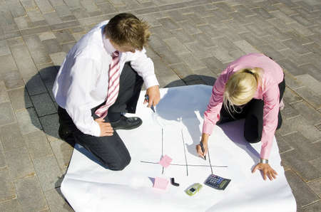 Business people planning some strategy Stock Photo - 3193388