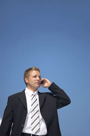 Businessman talking on the mobile phone Stock Photo - 3193397