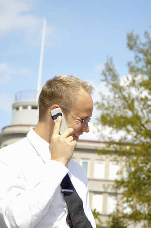 Businessman talking on the mobile phone Stock Photo - 3193402