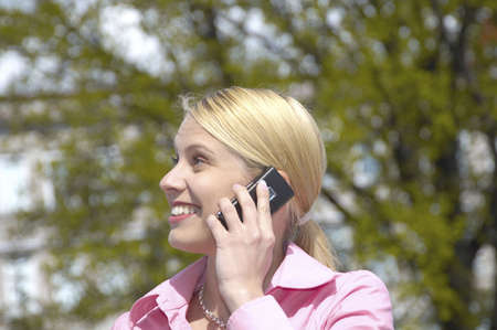 Businesswoman talking on the mobile phone Stock Photo - 3193419