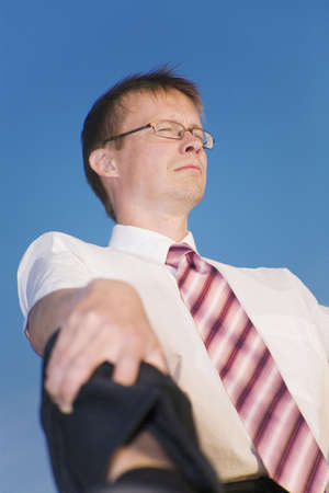 Businessman closing his eyes Stock Photo - 3193427