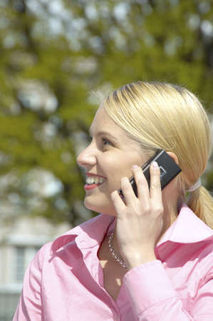 Businesswoman talking on the mobile phone Stock Photo - 3193431