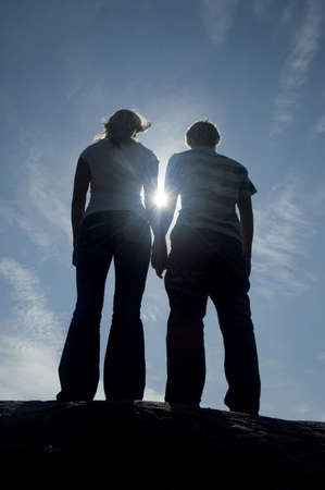 Couple holding hands while standing together Stock Photo - 3193483
