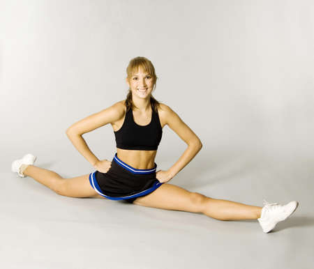 Cheerleader doing the splits Stock Photo - 3193562