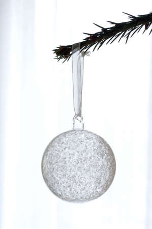 christmas decorations with white background: Christmas ball