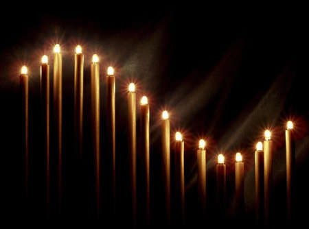 lighting background: Christmas candles