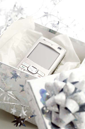 Cellphone in a present box LANG_EVOIMAGES