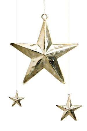 christmas decorations: Hanging Christmas stars