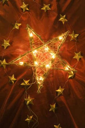 Christmas star and Christmas tree lights Stock Photo - 3193611