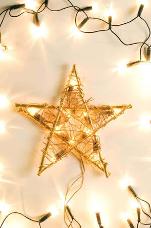 Christmas star and Christmas tree lights Stock Photo - 3193647