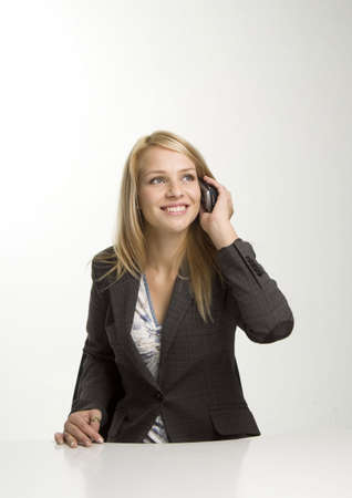 Businesswoman talking on the mobile Stock Photo - 3193689