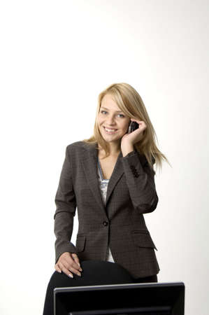 Businesswoman talking on mobile Stock Photo - 3193695