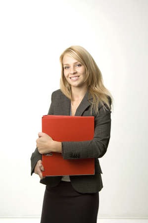 Businesswoman holding a file Stock Photo - 3193714