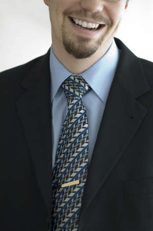 Midsection of a happy businessman Stock Photo - 3193745