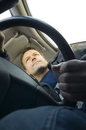 Man driving in the car