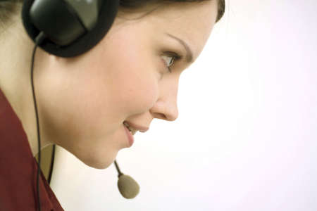Close-up of telephone operator