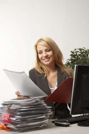 Businesswoman enjoying her work